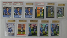 Collection of 11 Joey Harrington Graded Rookie Cards