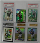 Collection of 6 Chad Pennington Autographed & Rookie Cards