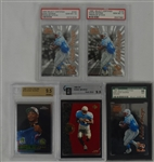Collection of 5 Eddie George Graded Rookie Cards