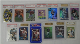 Collection of 13 Quarterback Graded Rookie Cards w/Troy Aikman