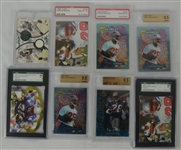Collection of 8 Curtis Martin Graded Rookie Cards