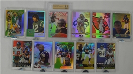 Collection of 11 NFL E-Topps Cards w/Favre & Tomlinson