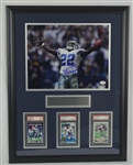 Emmitt Smith Autographed Rookie Card Display