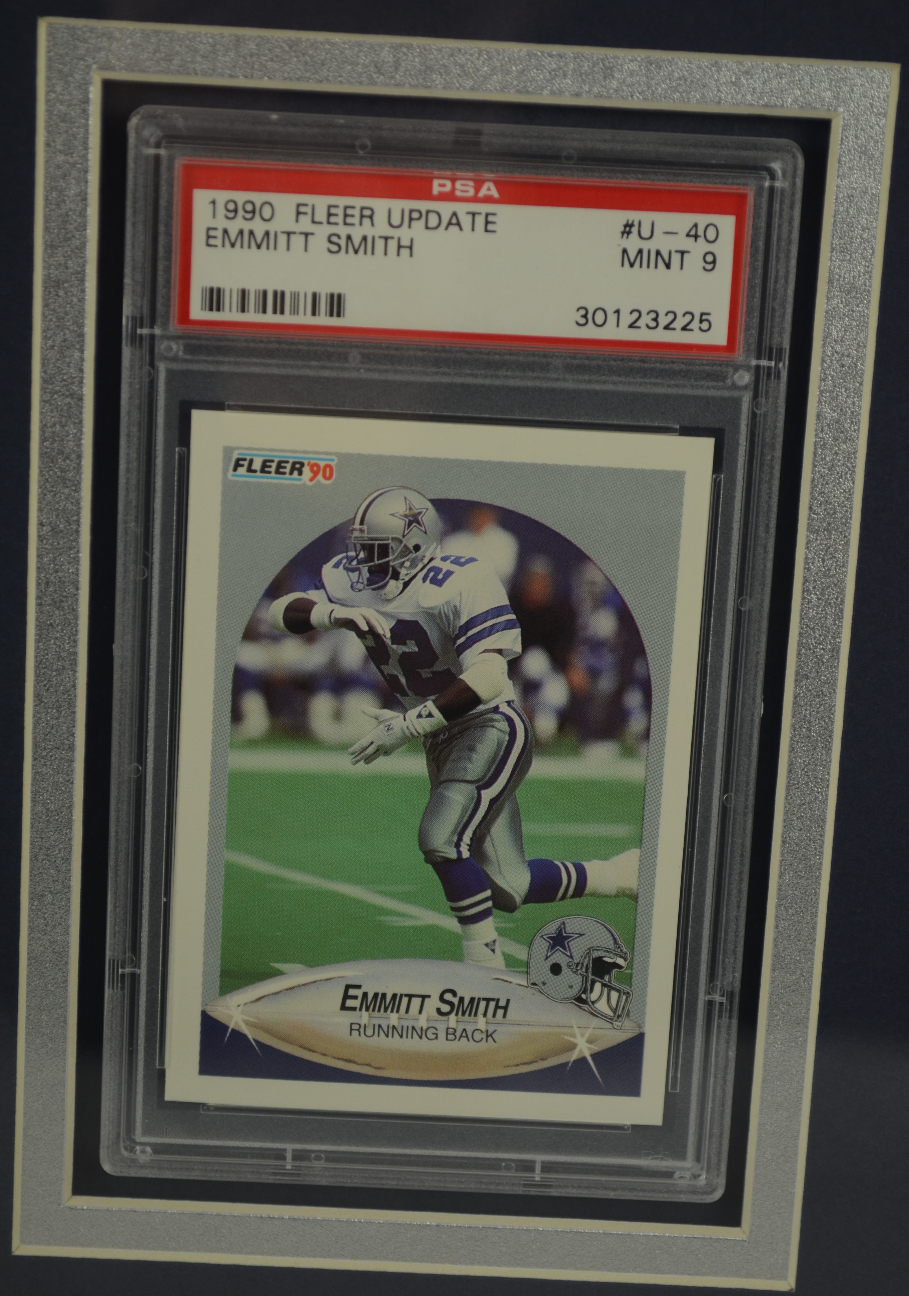 Lot Detail Emmitt Smith Autographed Rookie Card Display