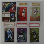Collection of 7 Marvin Harrison & Daunte Culpepper Rookie & Game Used Cards