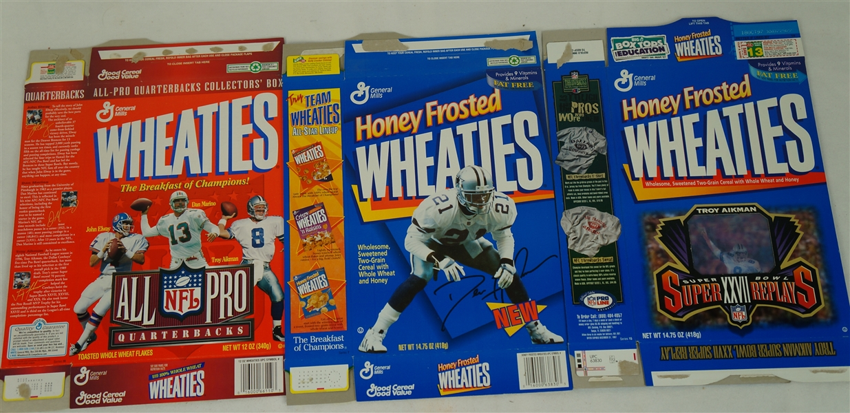 Vintage Collection of 9 Wheaties Boxes