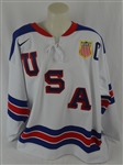 Zach Parise Team USA 2014 Sochi Olympics Game Worn Jersey Meigray & Steiner LOA