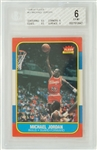Michael Jordan 1986-87 Fleer Rookie Card BGS 6 EX/MT
