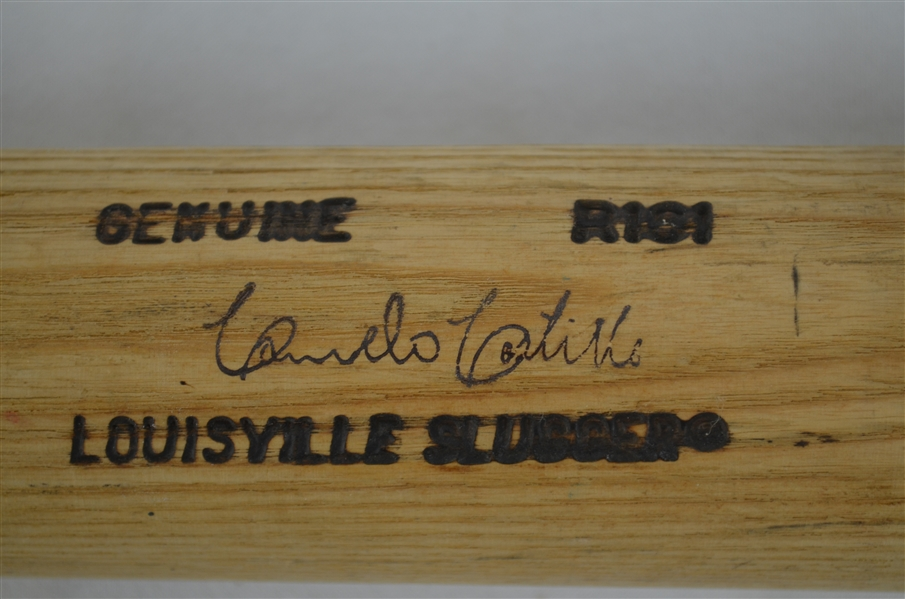 Carmelo Castillo 1991 Minnesota Twins Professional Model Bat