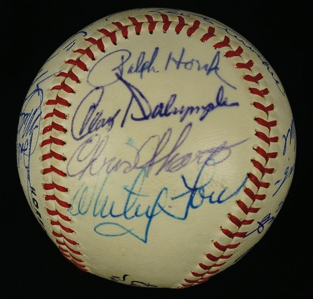 Roberto Clemente Autographed 1960's Hall of Fame Baseball w/DiMaggio & Mays JSA LOA