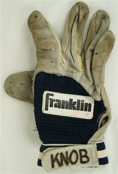 Chuck Knoblauch Minnesota Twins Professional Model Batting Glove w/Heavy Use
