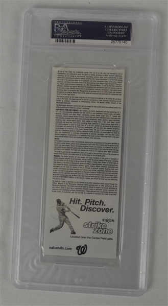 Bryce Harper 1st Major League Home Run Ticket PSA 7
