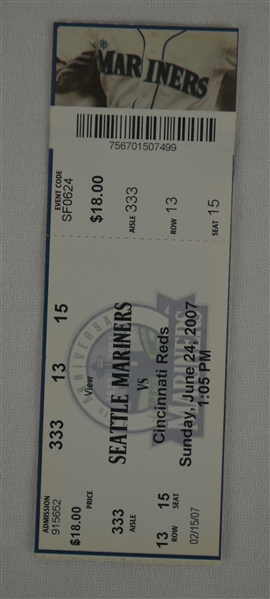 Ken Griffey Jr. Final Multi Home Run Game Ticket