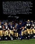 Lou Holtz Notre Dame Tunnel 16x20 Extensively Signed Story Photo