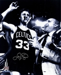 Larry Bird With Cigar Signed 16x20 Photo