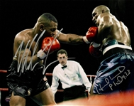Mike Tyson & Evander Holyfield Dual Signed 11th Round 11/9/96 8x10 Photo