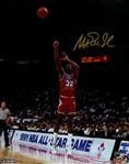 Magic Johnson Signed 1991 All-Star Game Jump Shot 8x10 Photo