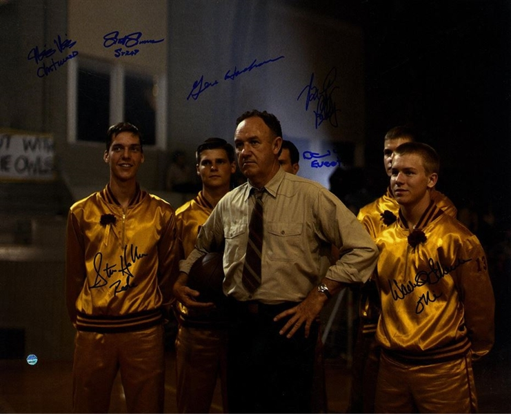 Cast of Hoosiers Multi Signed Team 16x20 Photo w/Gene Hackman