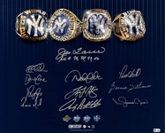 New York Yankees Dynasty 11 signature 4 World Series Rings 16x20 Photo