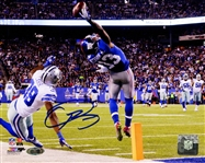 Odell Beckham Jrs Signed One-Handed Touchdown Catch 8x10 Photo