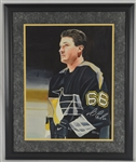 Mario Lemieux 16x20 Original James Fiorentino Watercolor Painting