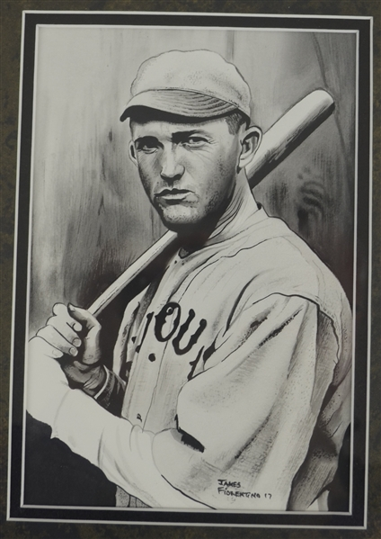 Rogers Hornsby 5x8 Original James Fiorentino Watercolor Painting