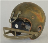 Vintage c. 1950s Riddell Football Helmet w/Heavy Use
