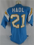 John Hadl Vintage San Diego Chargers Professional Model Sample Jersey w/No Use