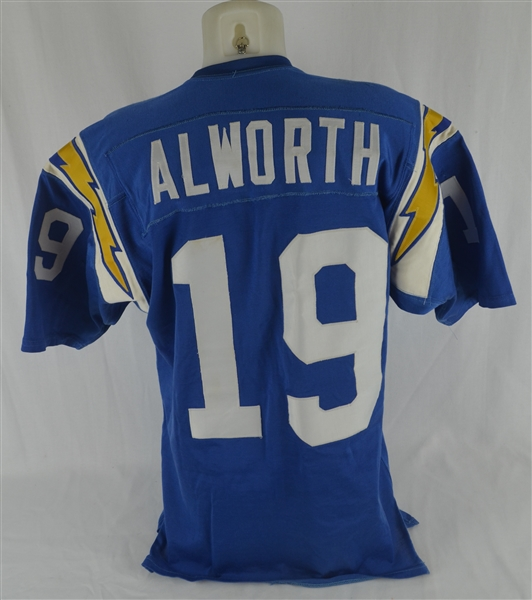 Lance Alworth Vintage 1960's San Diego Chargers Durene Jersey