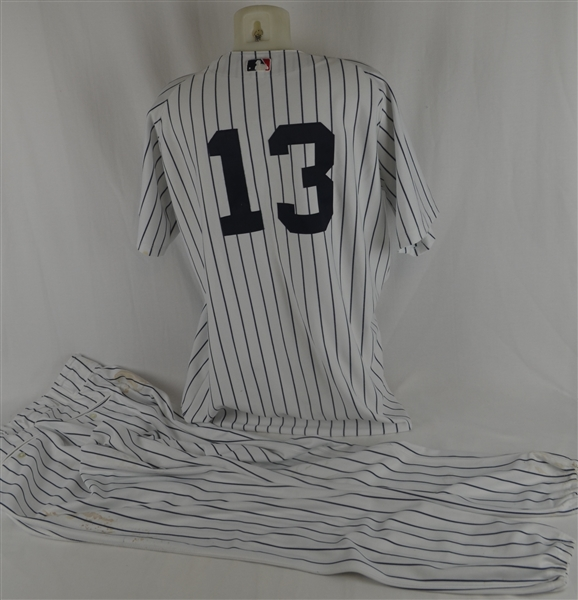 Alex Rodriguez 2004 New York Yankees Game Worn Uniform w/Topps LOA
