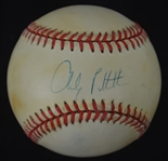 Andy Pettitte Autographed 1996 World Series Baseball