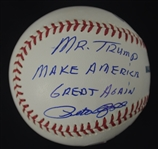 "Pete Rose Autographed Inscribed ""Mr. Trump Make America Great Again""  Baseball"