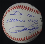 "Pete Rose Autographed & Inscribed ""I'm Not A Steroids User"" Baseball"