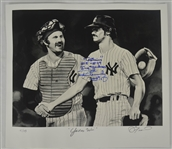Thurman Munson & Ron Guidry Autographed Inscribed James Fiorentino Limited Edition Lithograph