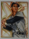 Ted Williams Original 30x40 Oil Painting on Canvas by John Yim