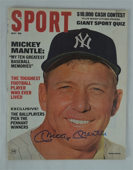 Mickey Mantle Autographed 1967 Sport Magazine