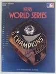 Bucky Dent Signed 1978 World Series Champions Program & Bob Lemon Signed 1978 Yearbook