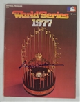 Reggie Jackson Signed 1977 World Series Program & Sports Illustrated