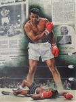 Muhammad Ali Autographed 2004 Gold Signature Edition Giclee on Canvas #7/60
