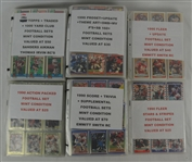 Lot of 6 1990 Football Card Sets
