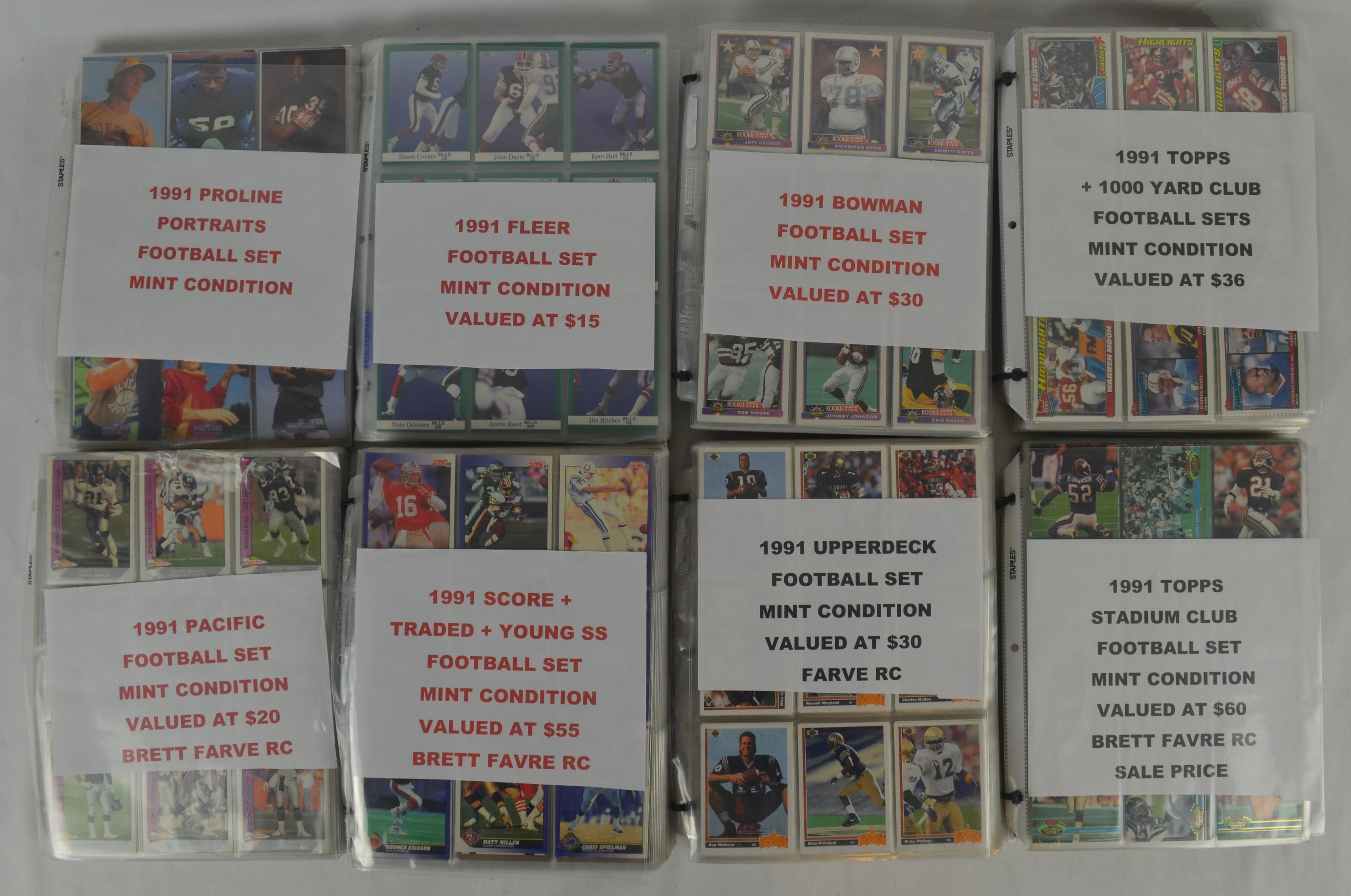 Lot Detail - Lot of 8 1991 Football Card Sets