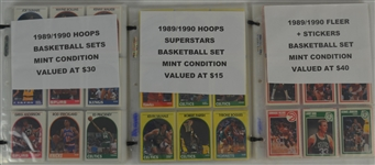 Lot of 3 1989-1990 Basketball Card Sets