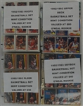 Lot of 4 1992-1993 Basketball Card Sets