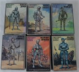 Set of 6 Armored Knight Series by Imai Made in 1984