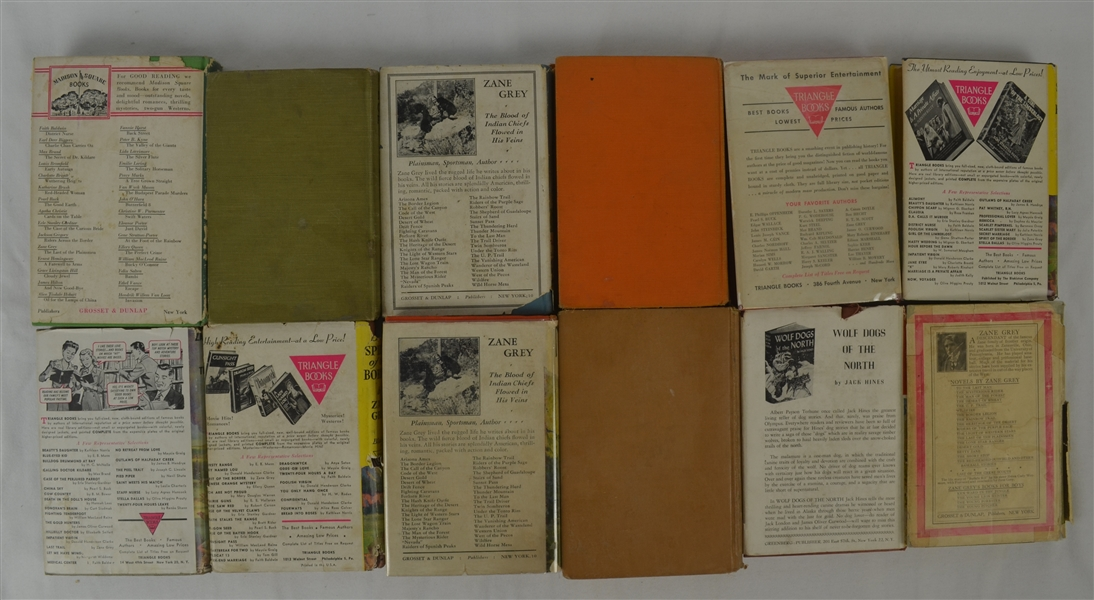 Zane Gray Early 1900's Collection of 12 Books