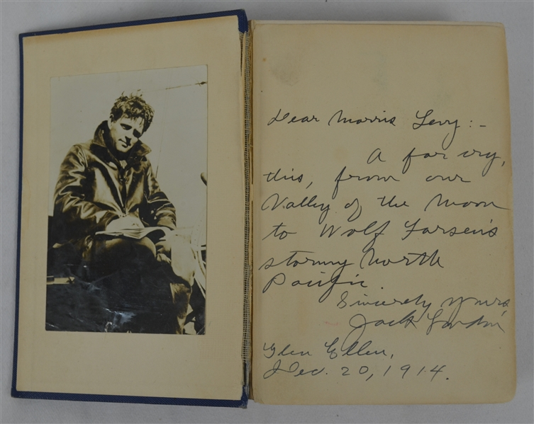 Jack London Signed First Edition of The Sea Wolf PSA/DNA LOA