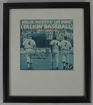 "Mickey Mantle Willie Mays & Duke Snider Autographed ""Talkin Baseball"" PSA 10"