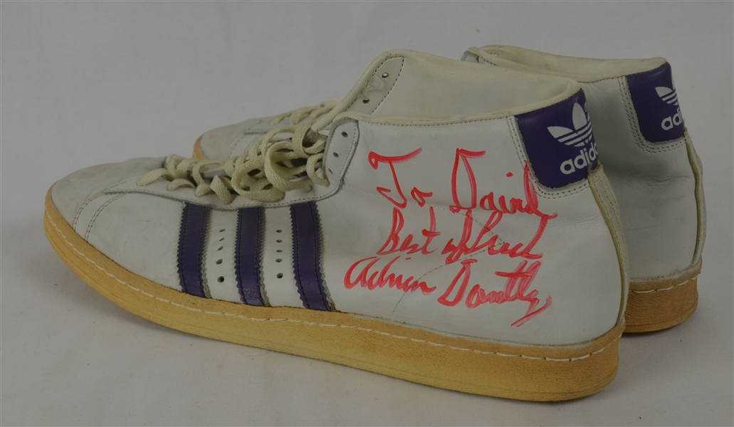 Adrian Dantley c. 1980 Professional Model Shoes w/Heavy Use
