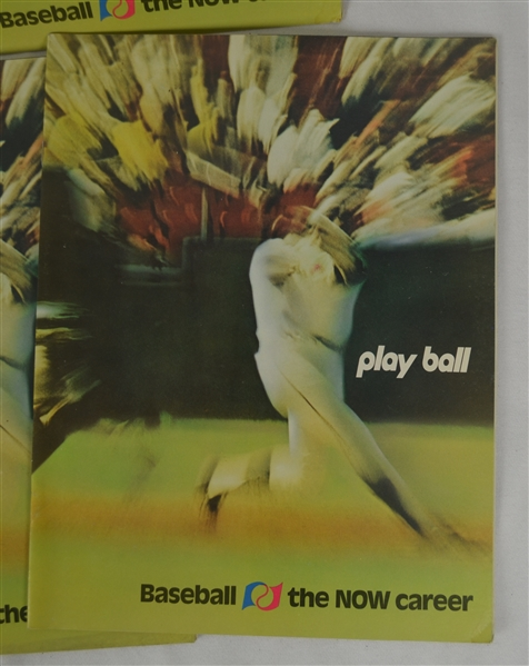 Vintage Collection of 9 Playball Baseball Magazines