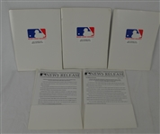 Collection of 4 Media Kits From 2000 Opening Day of Baseball Season